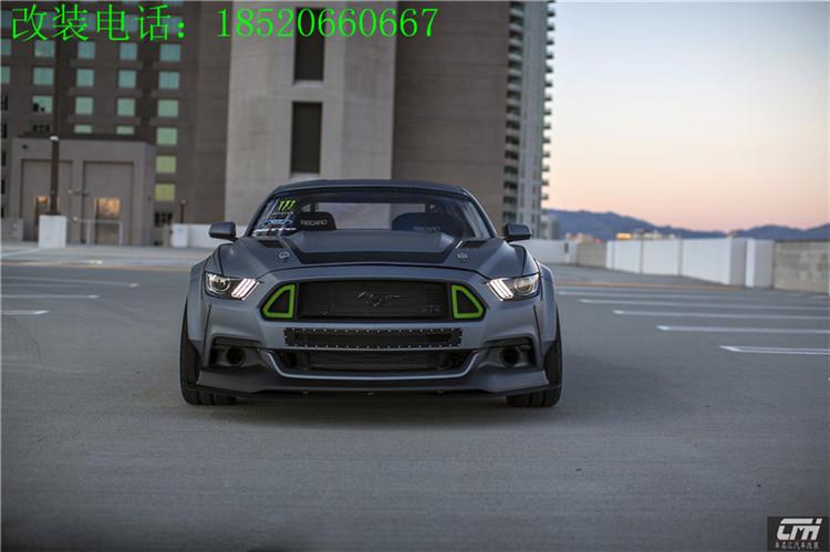 野马Mustang改装加宽轮廓宽体轮眉叶子板