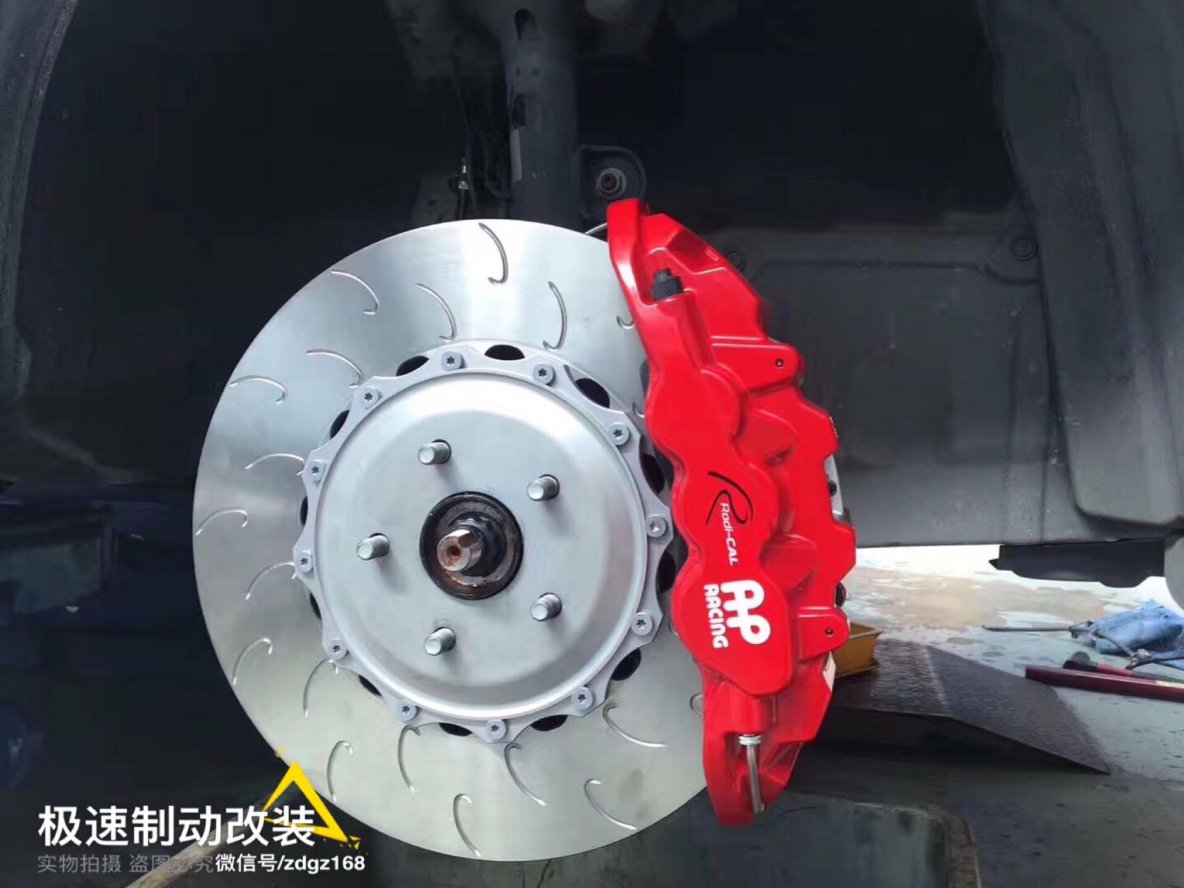 雷克萨斯NX200刹车升级前轮Ap8520六活塞刹车套件改装案例