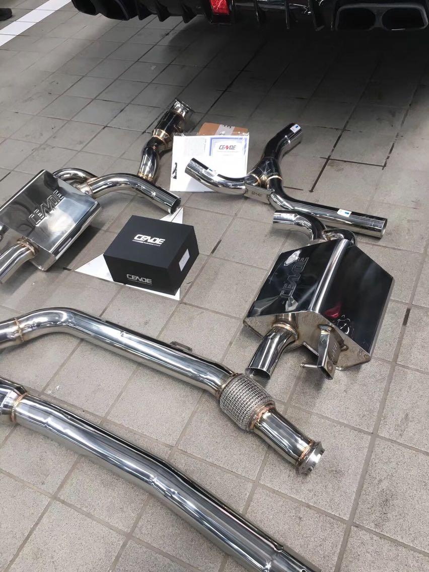 奔驰C200 W205升级CENDE森德阀门排气 全段