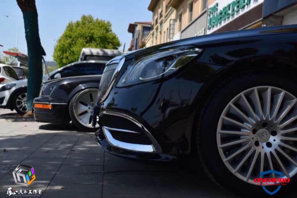 立标迈巴赫S施工ONERPRO隐形车衣,众多豪车的选择