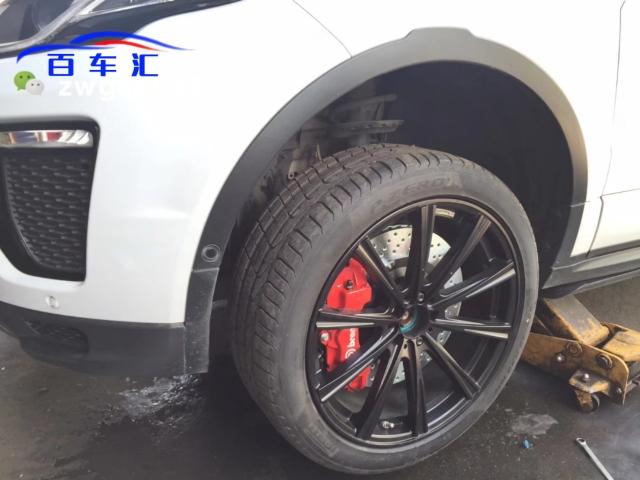 【路虎极光】前轮刹车升级brembo 18z大六活塞卡钳套装[得意]套装价格优惠欢迎大家咨询