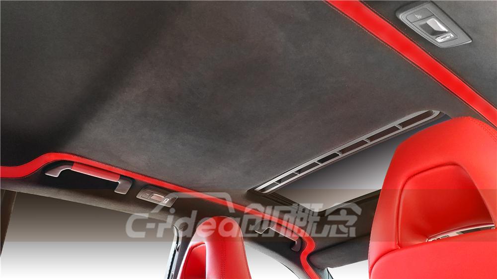 保时捷改装私人订制,一袭红装超带感