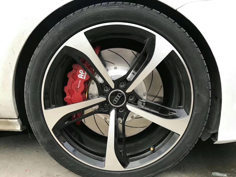 奥迪A7刹车升级前轮AP8520大六活塞刹车套件➕后轮加大盘。