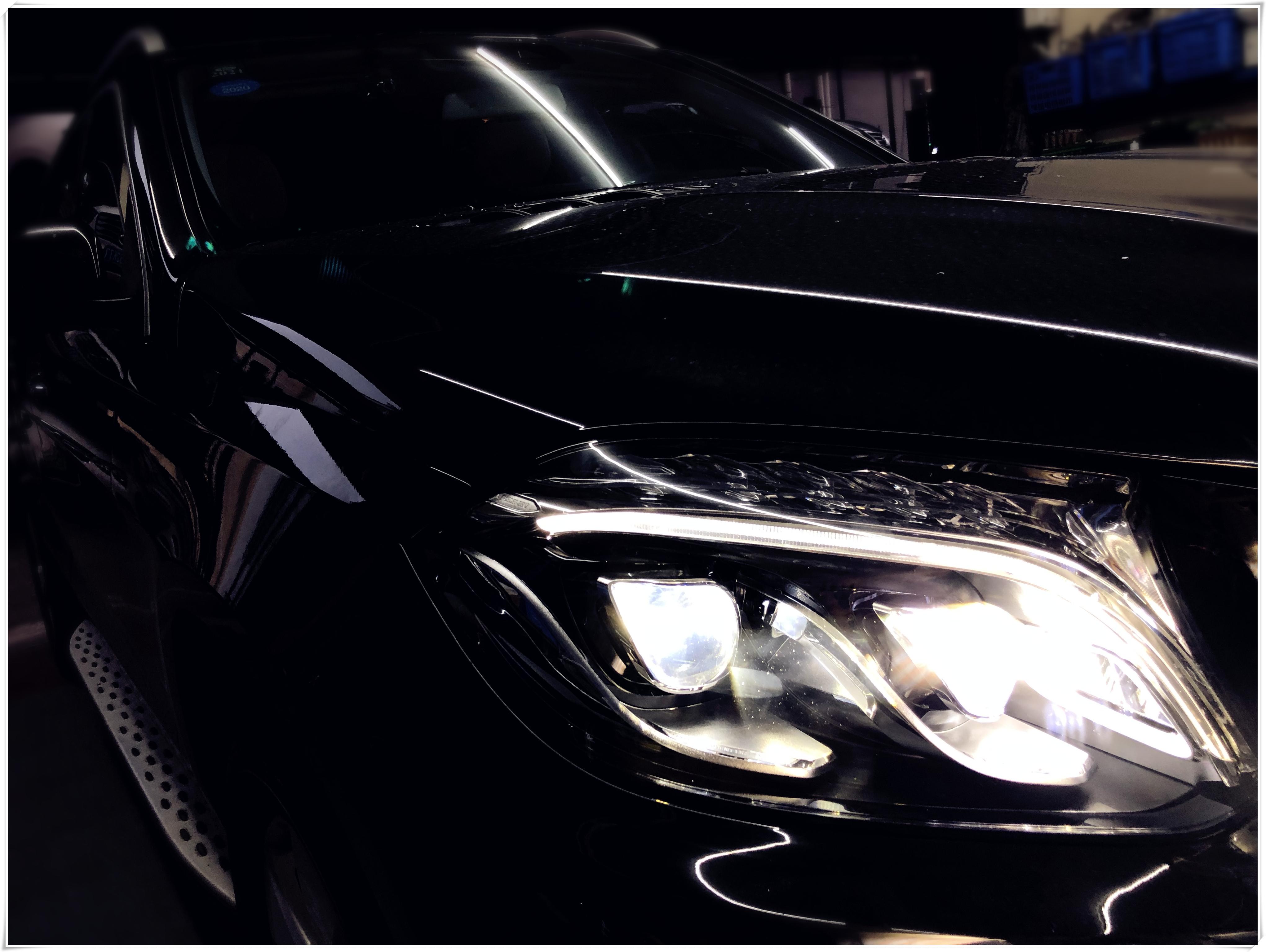 如何使奔驰GLS 450卤素灯升级LED大灯