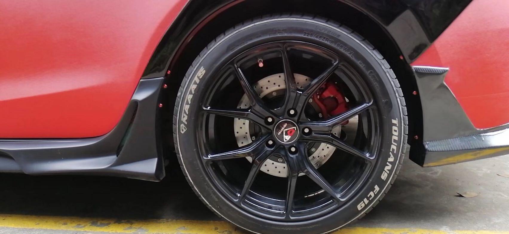 昂克赛拉 刹车升级Ap9200大四活塞套件!