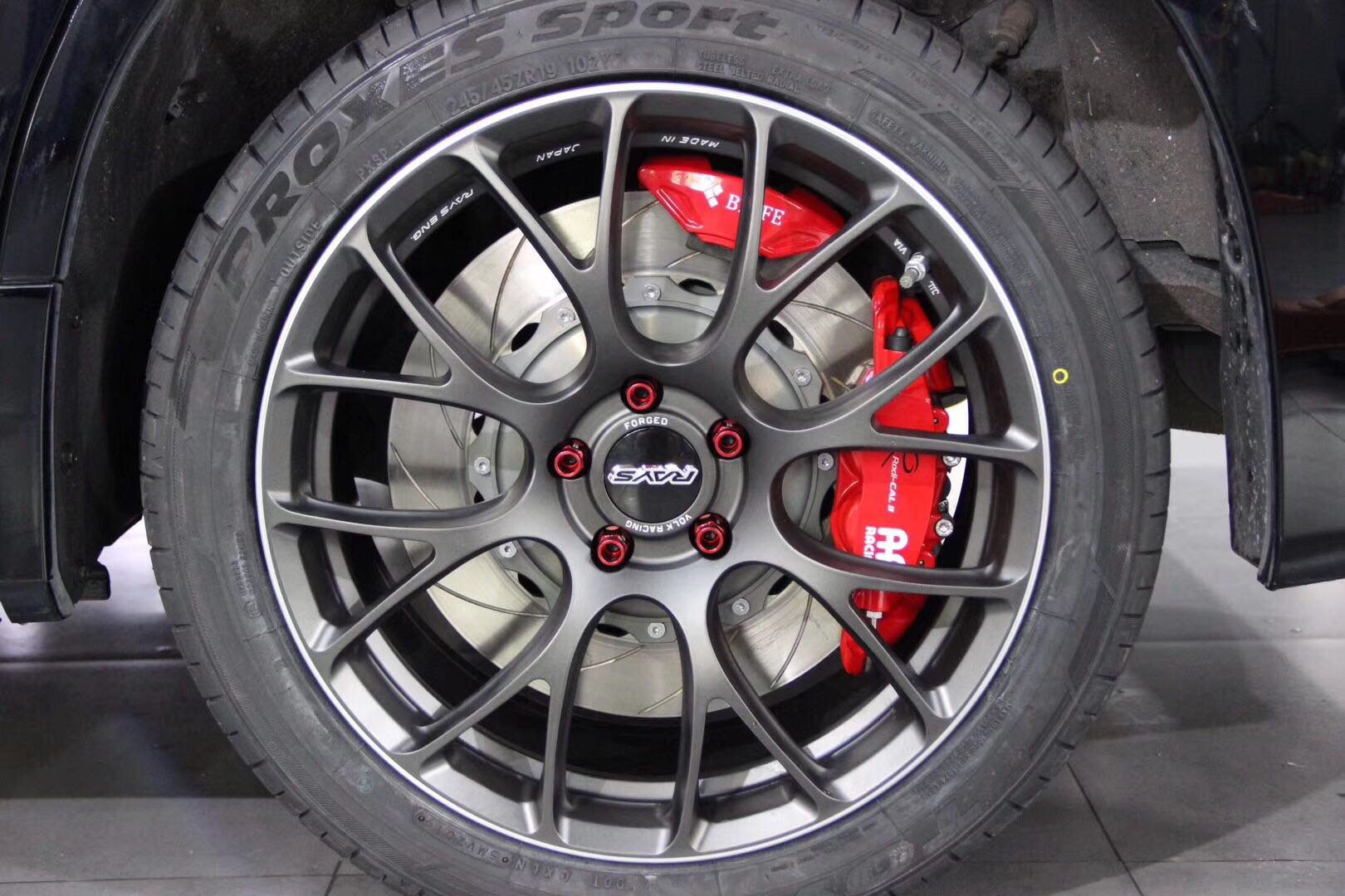 埃尔法刹车改装Ap95系列前六后四套装 前/后轮搭配380MM碟盘➕电子手刹卡钳