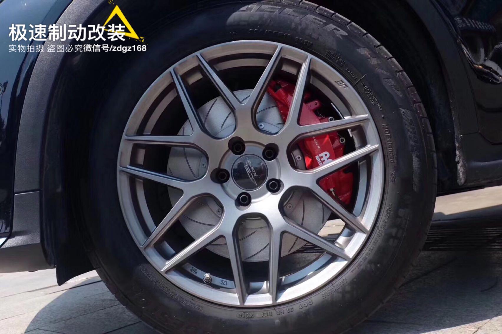 奔驰GLC刹车升级前AP9560六活塞套装,后370MM加大盘套装