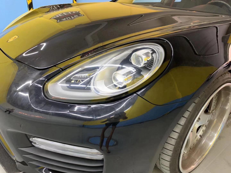 Panamera 保时捷 车灯 老款改装新款