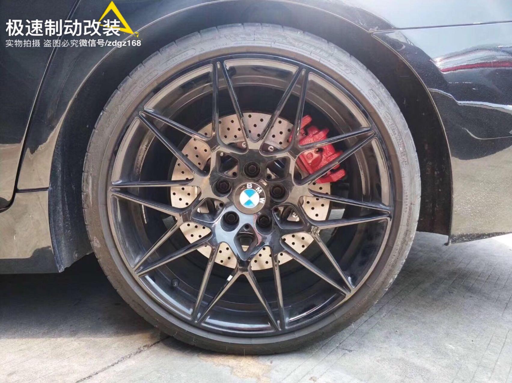 宝马5系刹车升级前Brembo GT6套件➕后轮加大碟,完美上车!