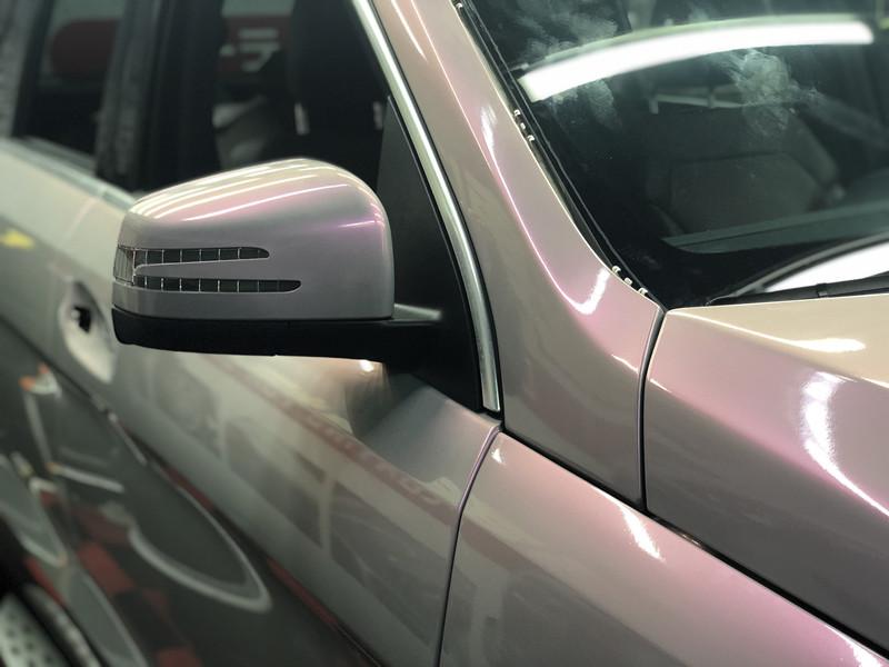 深圳奔驰GL450车身改色贴膜梦幻火山灰