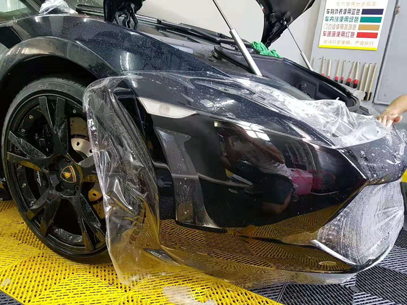 兰博基尼施工顶级透明车衣保护膜