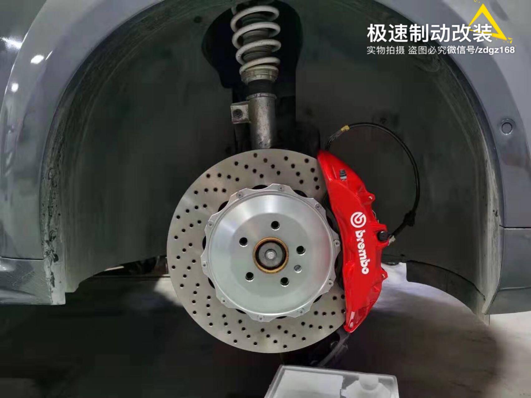 领克02刹车升级前轮布雷博Brembo V6刹车卡钳套件➕后轮加大盘,上车效果好!