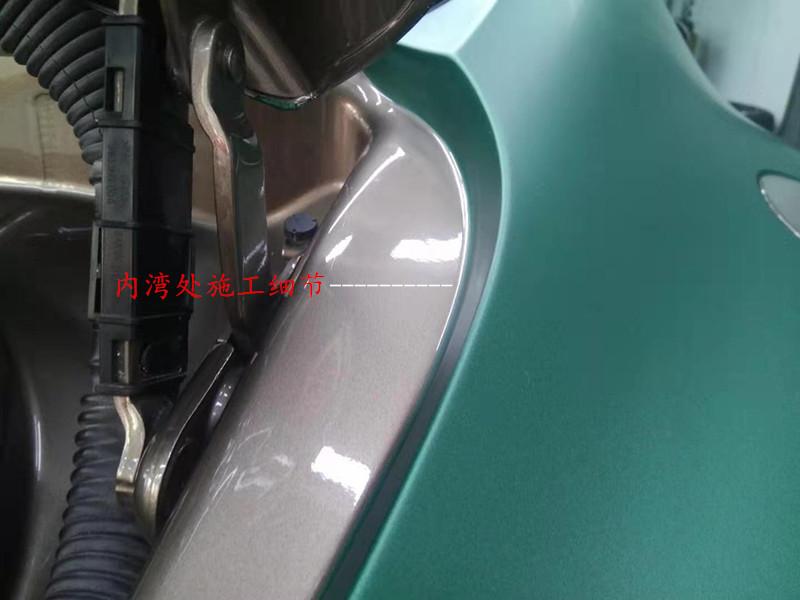 宾利欧陆GT贴膜改色重金属祖母绿