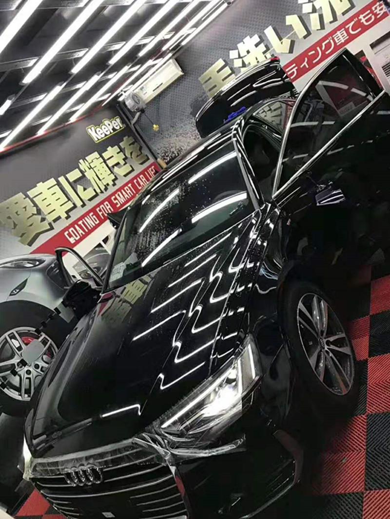 实拍奥迪A6装贴隐形车衣保护膜
