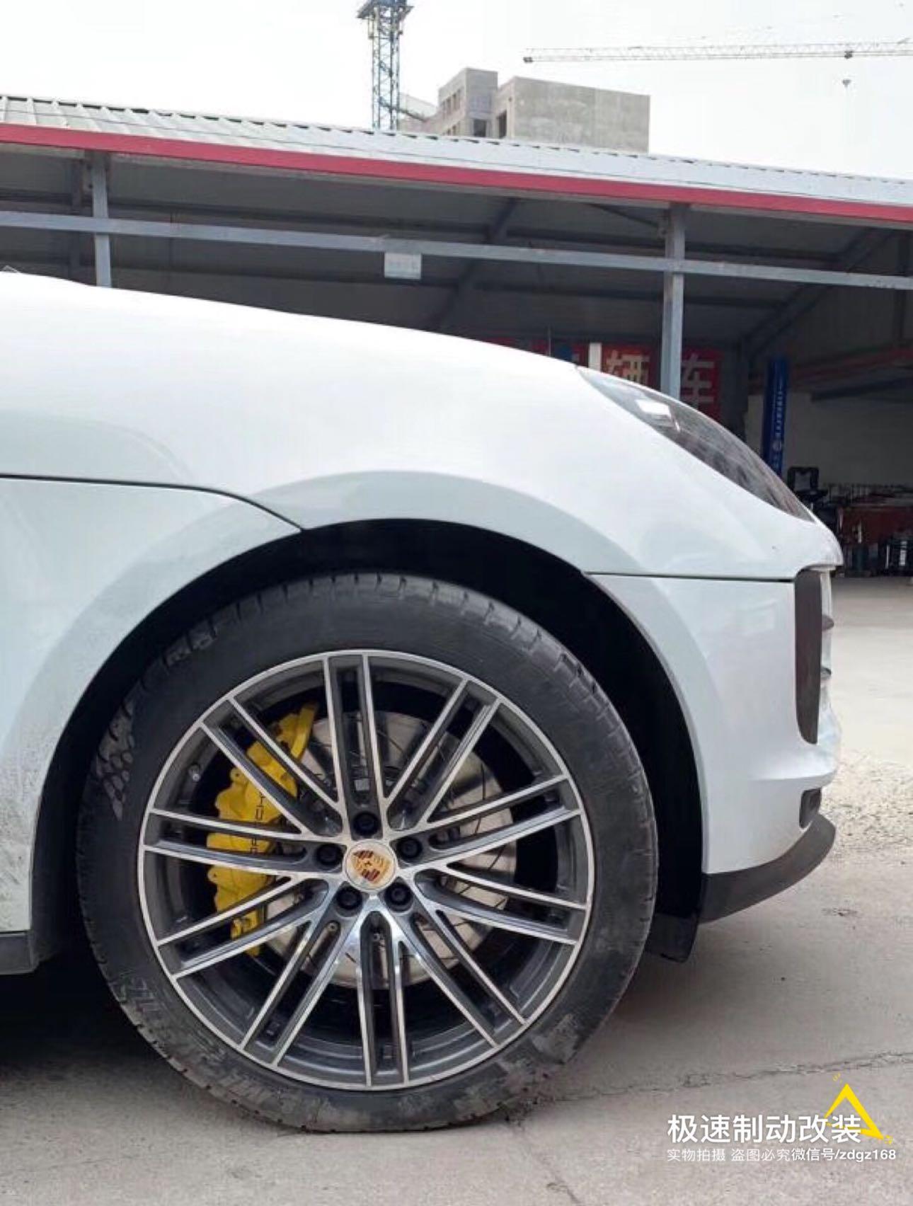 【刹车卡钳】保时捷Macan刹车升级前轮AP8520大六套装,后轮换一对加大盘,完美安装!