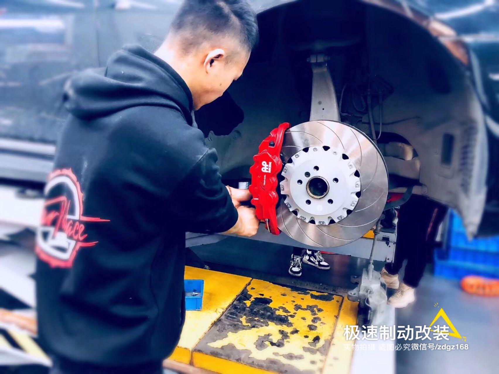 【深圳刹车卡钳改装】宝马740Li刹车升级AP8521大六刹车套装,完美上车