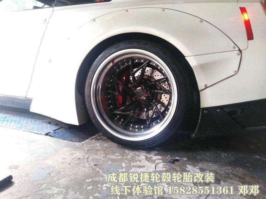成都锐捷轮毂 日产GTR改装20寸两片锻造