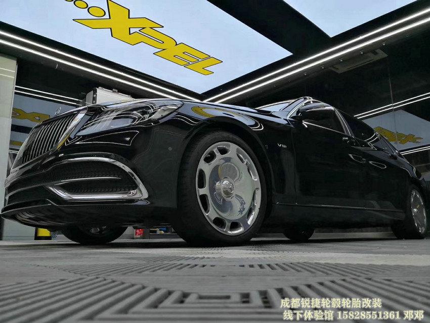 成都锐捷轮毂 奔驰S600款锻造轮毂装车