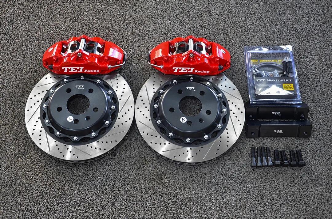 奥迪A4B9改装TEI Racing P40S刹车套件