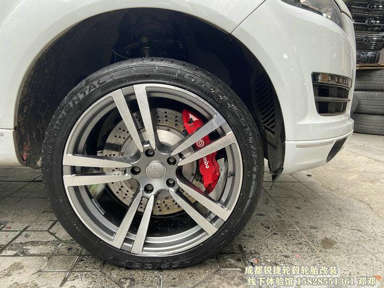 奥迪Q7改装21寸锻造轮毂 成都锐捷轮毂