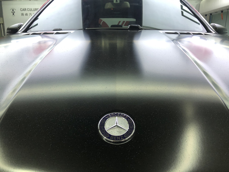 奔驰GLS350改色贴膜-陶瓷黑