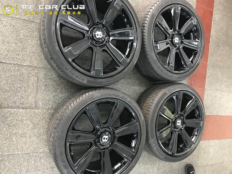 宾利轮毂改装-改色烤漆亮黑色