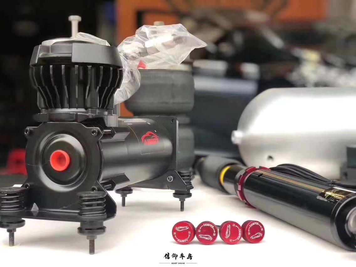 本田奥德赛安装AIRBFT气动避震 三段记忆,手机app,静音气泵,铝合金鱼雷气罐!