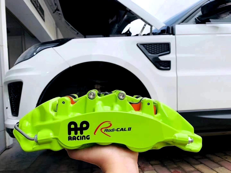 路虎揽胜 升级AP 9560 Racing Radi-CAL 六活塞 定制荧光绿 做街上最靓的仔