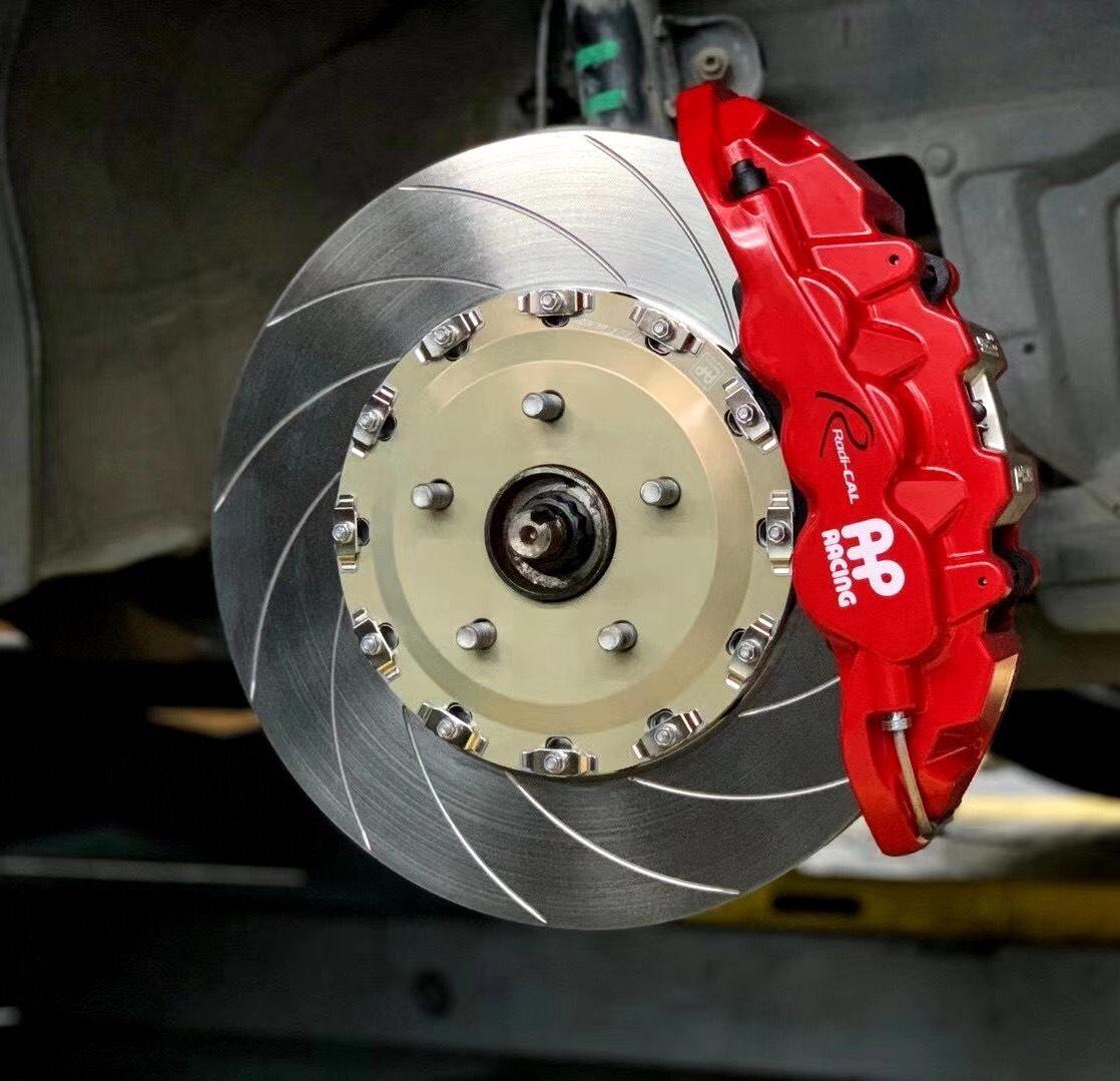 [丰田埃尔法刹车改装]升级AP8520配370划线盘——行车安全、制动为上
