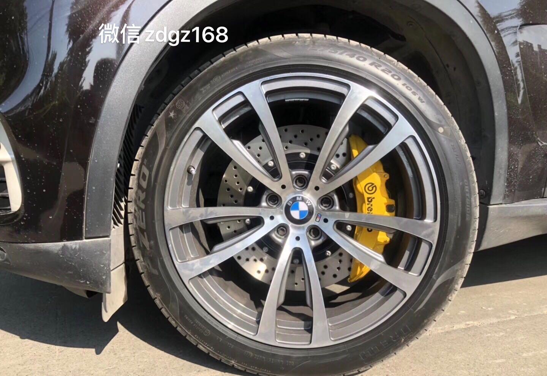 宝马X5 刹车升级brembo v6/380MM打孔碟通用款刹车/六活塞套件/20寸轮毂原装位安装
