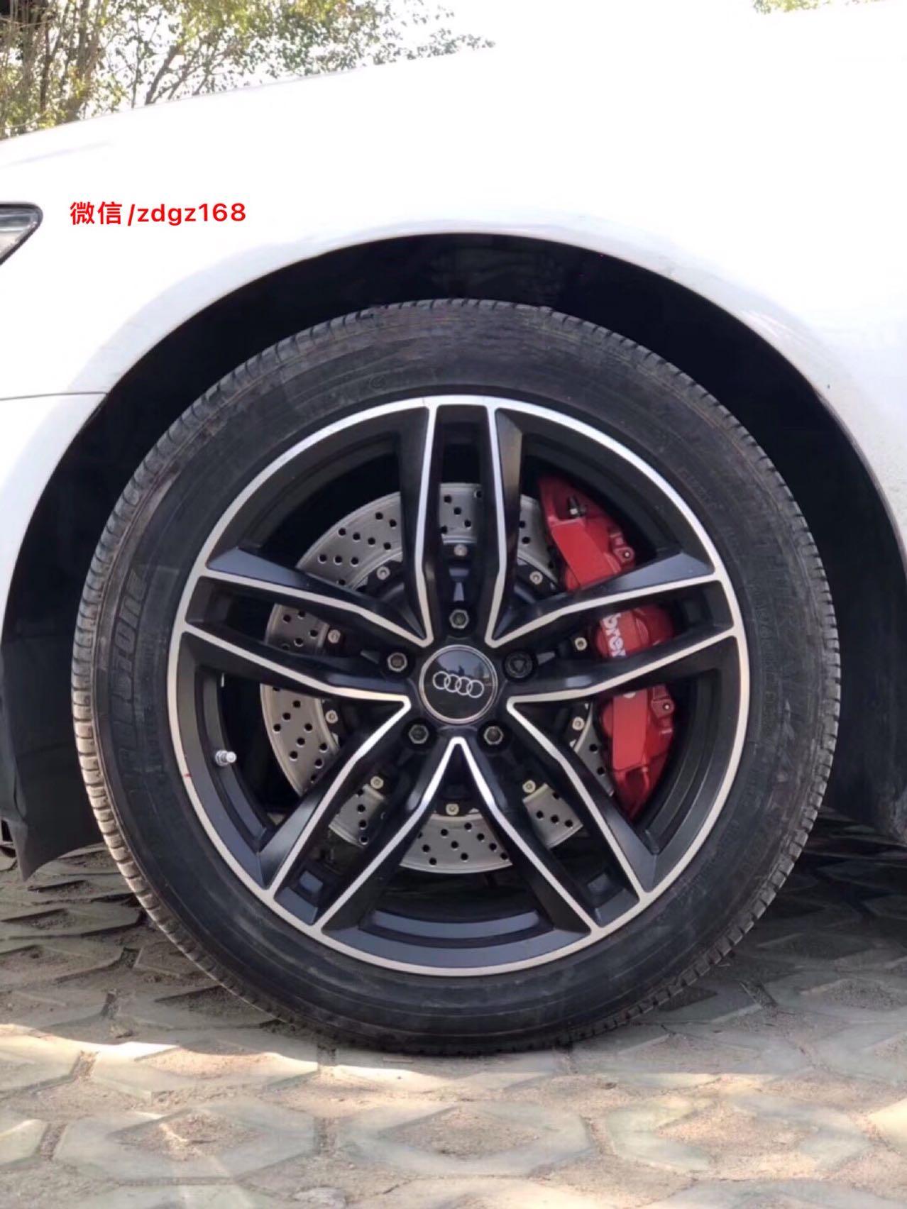 奥迪A6L升级布雷博Brembo GT6红色套装,强劲制动、气度非凡