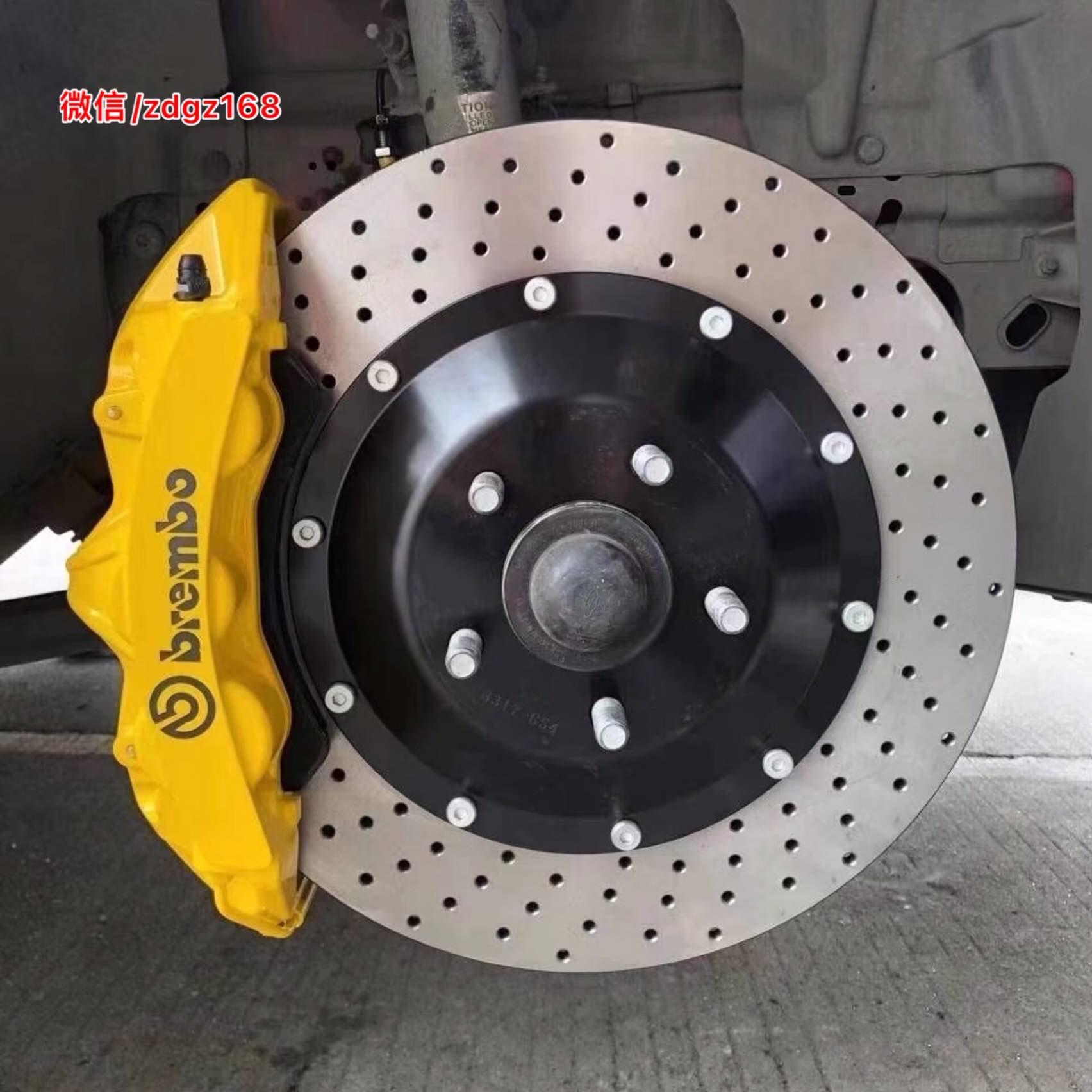野马 升级前轮布雷博brembo GT6/后轮换一对加大盘 完美安装