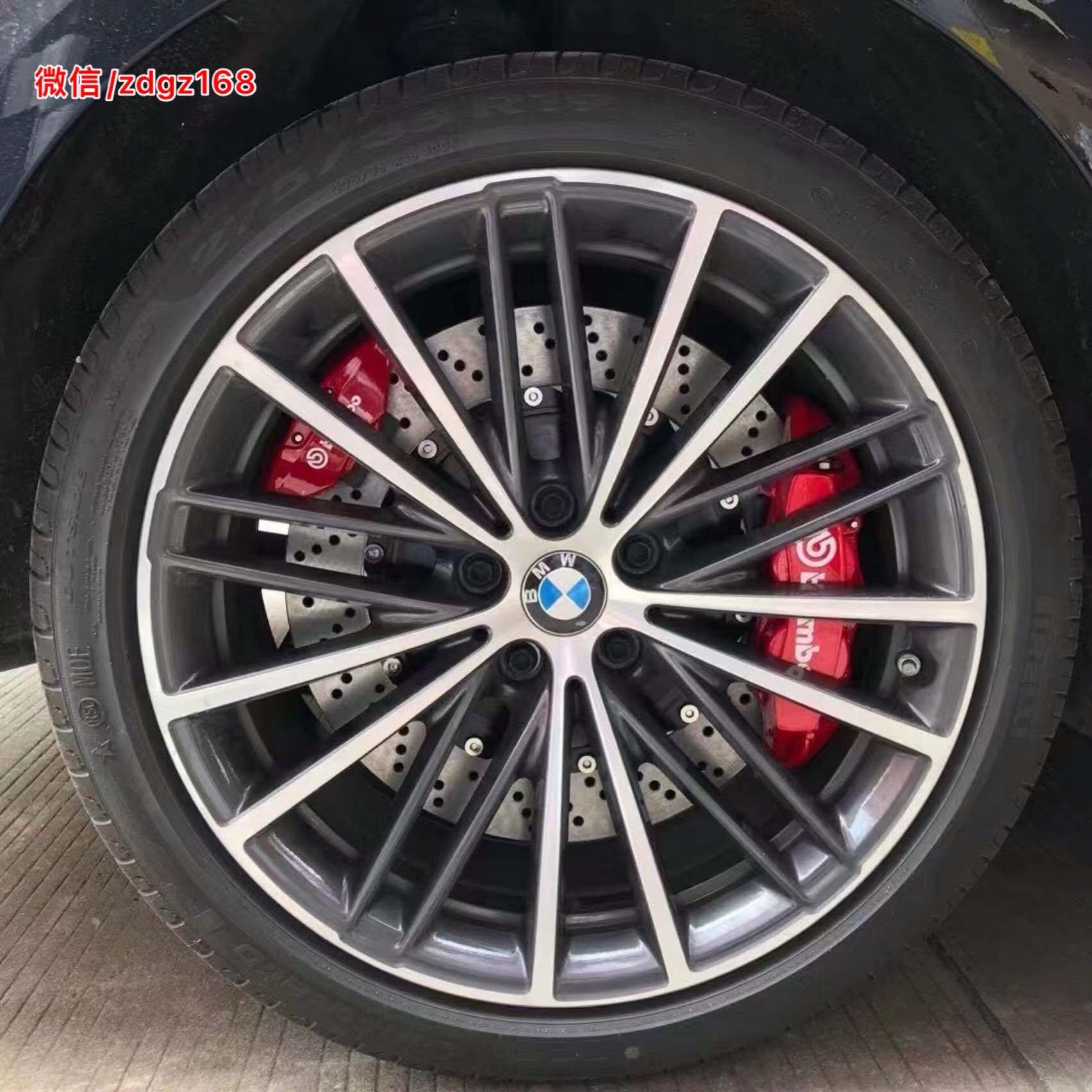 新款宝马530Li G38  /升级布雷博 Brembo GT前6后4刹车套装,后轮采用双卡钳安装
