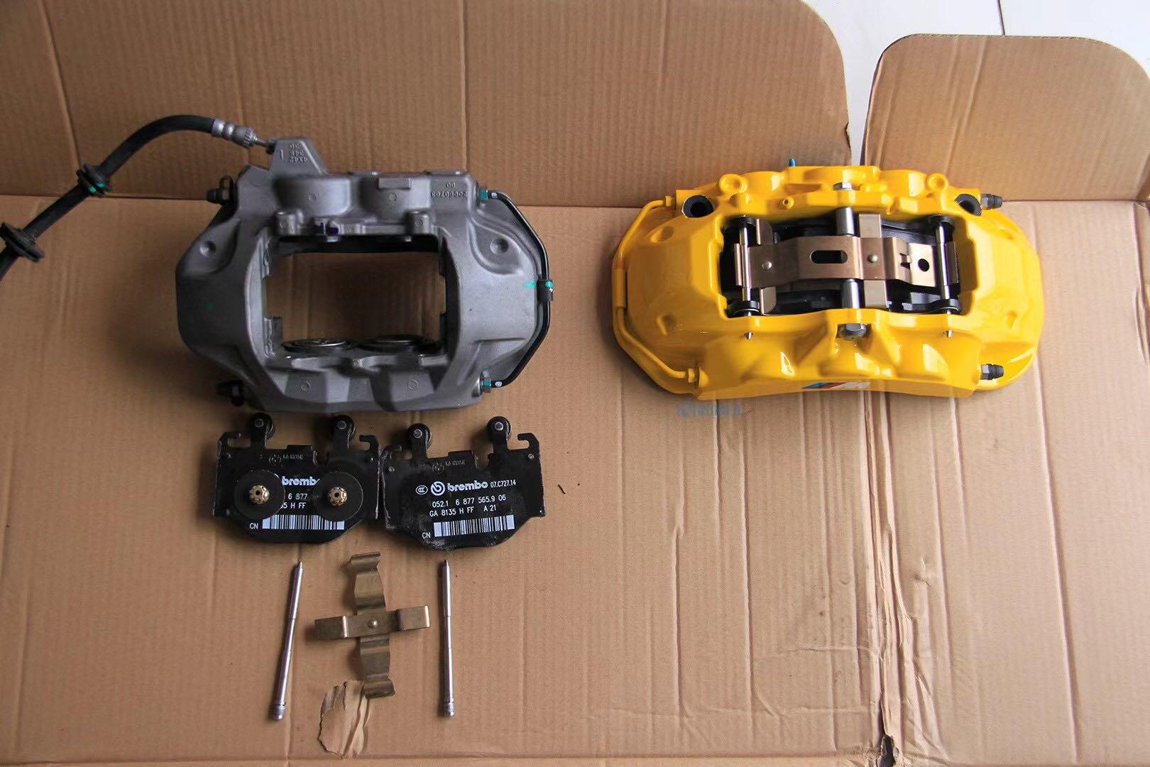 宝马5系G38升级brembo六活塞改MP标,搭配 380高碳热处理刹车盘,效果极佳