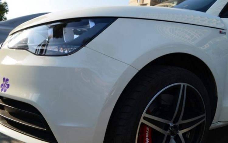 小可爱奶白A1改装OZ轮毂AP刹车--改装展示】--#改装案例#--@改联高清图片