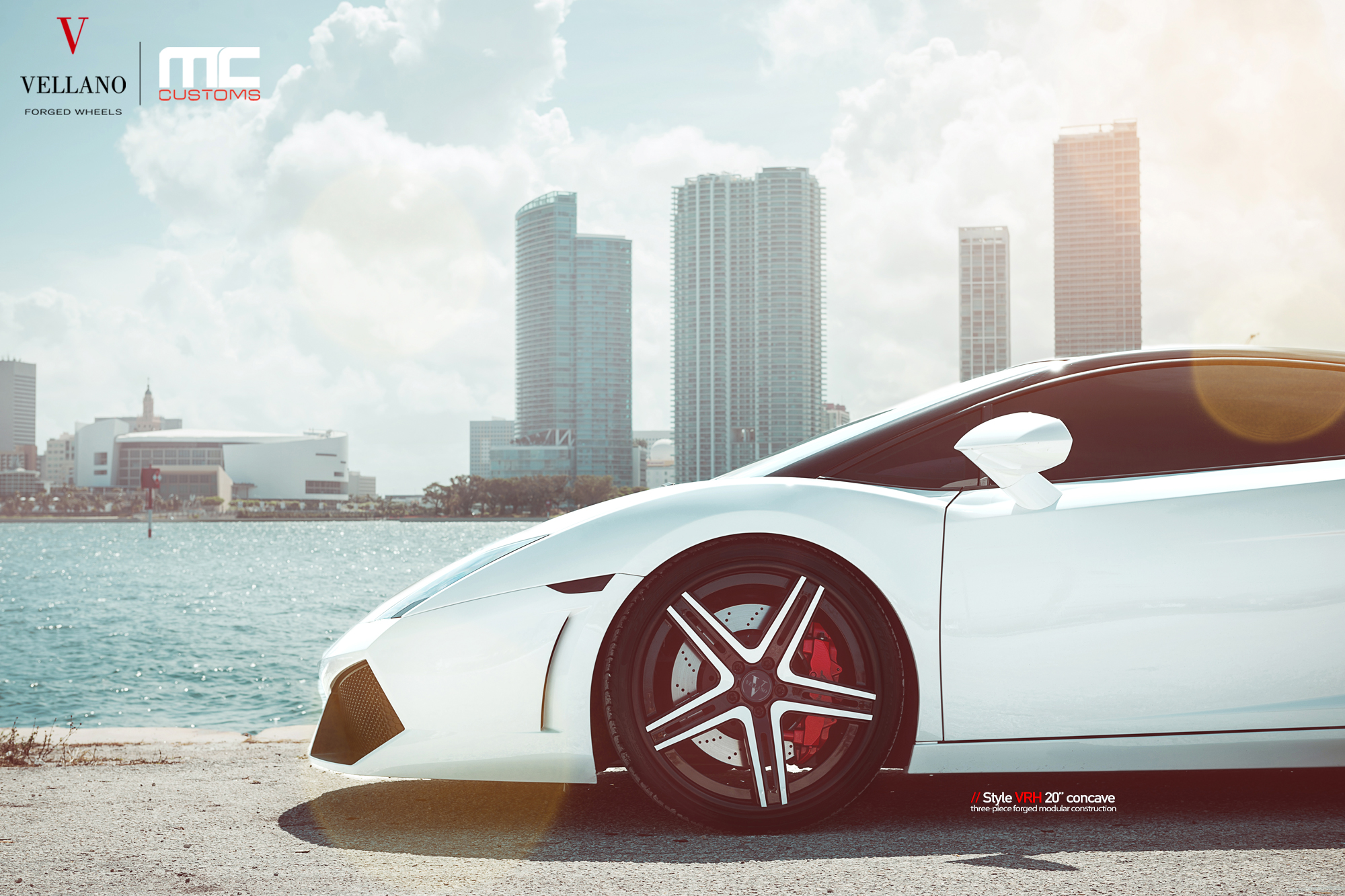lp560 Lamborghini Gallardo vellano wheels vrh concave