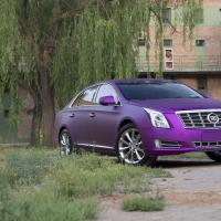凯迪拉克全车贴膜哑光电镀紫