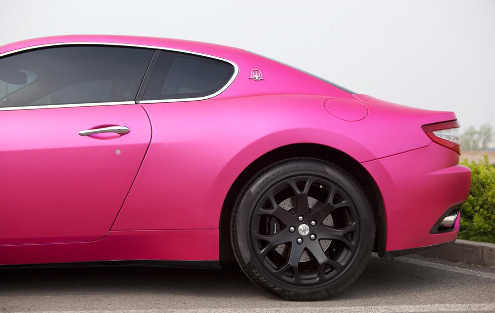 玛莎拉蒂全车哑光电镀粉高清图片