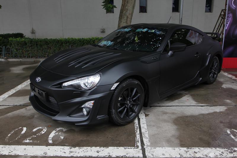 丰田86哑光黑喷涂改色外观改装