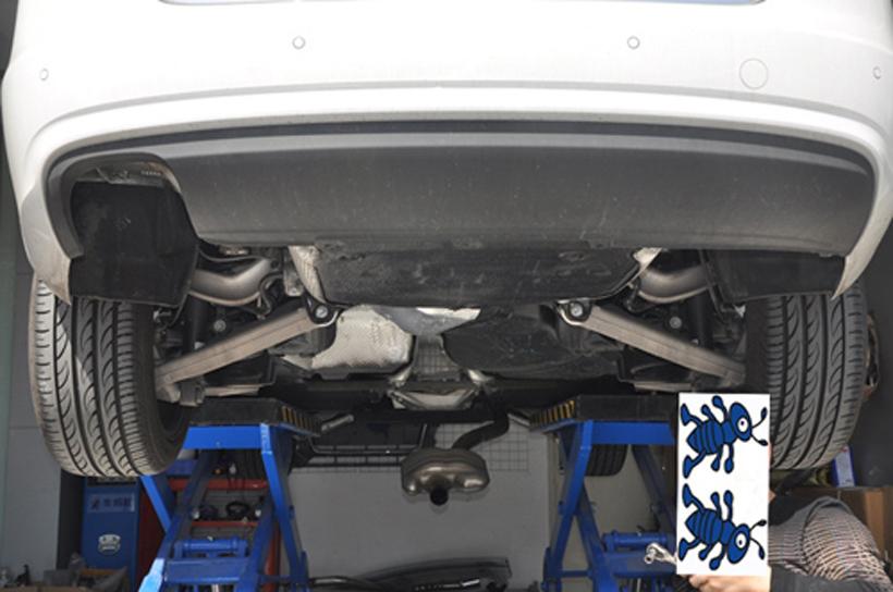 奥迪A4l改装排气 深圳奥迪A4l改装S4排气高清图片
