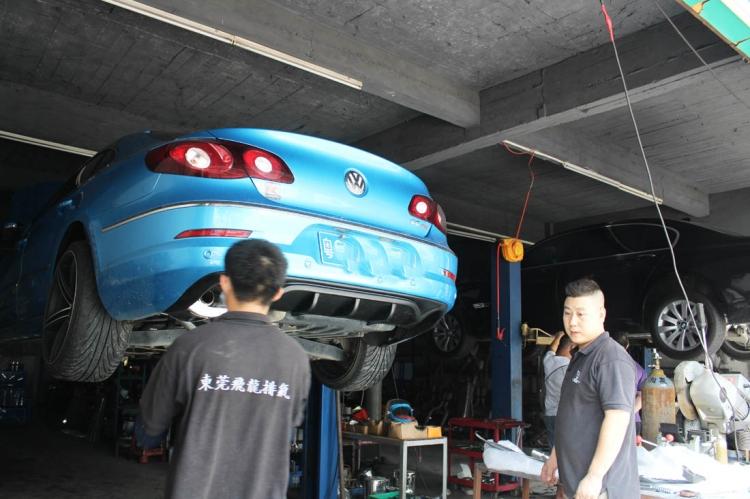 大众cc可变阀门跑车音排气管改装 高清图片