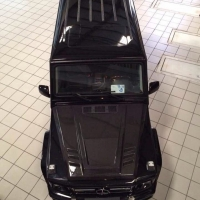 奔驰G55改装Mammoth碳纤维机盖
