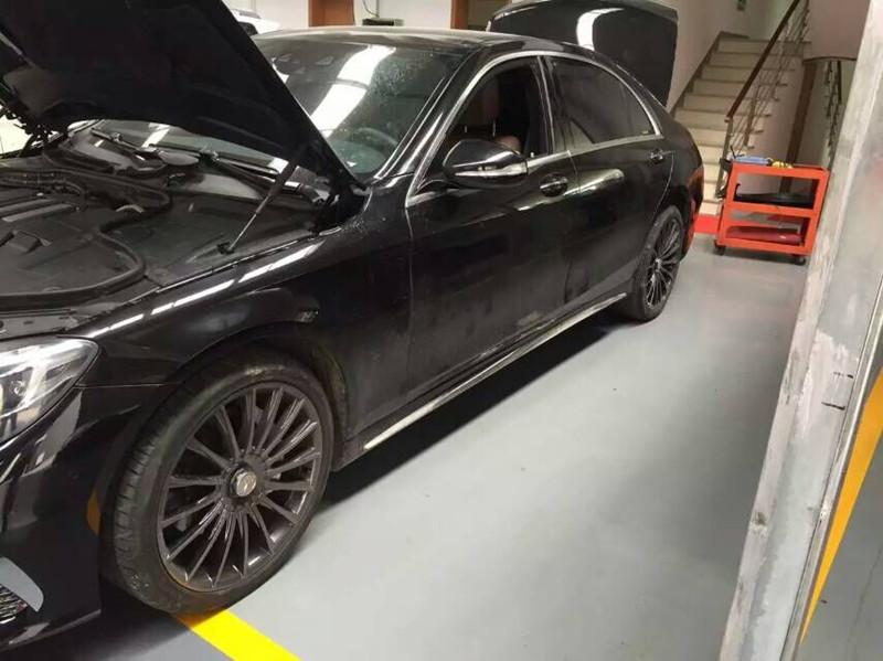 奔驰S320改装Repose阀门排气高清图片