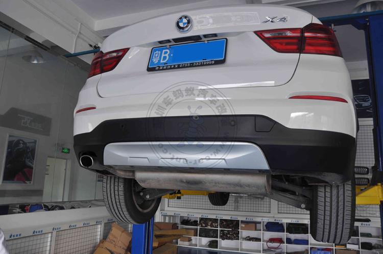 宝马x4改装方口排气管 宝马x4改排气高清图片