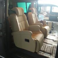 大众t5中排座椅改装成航空座椅