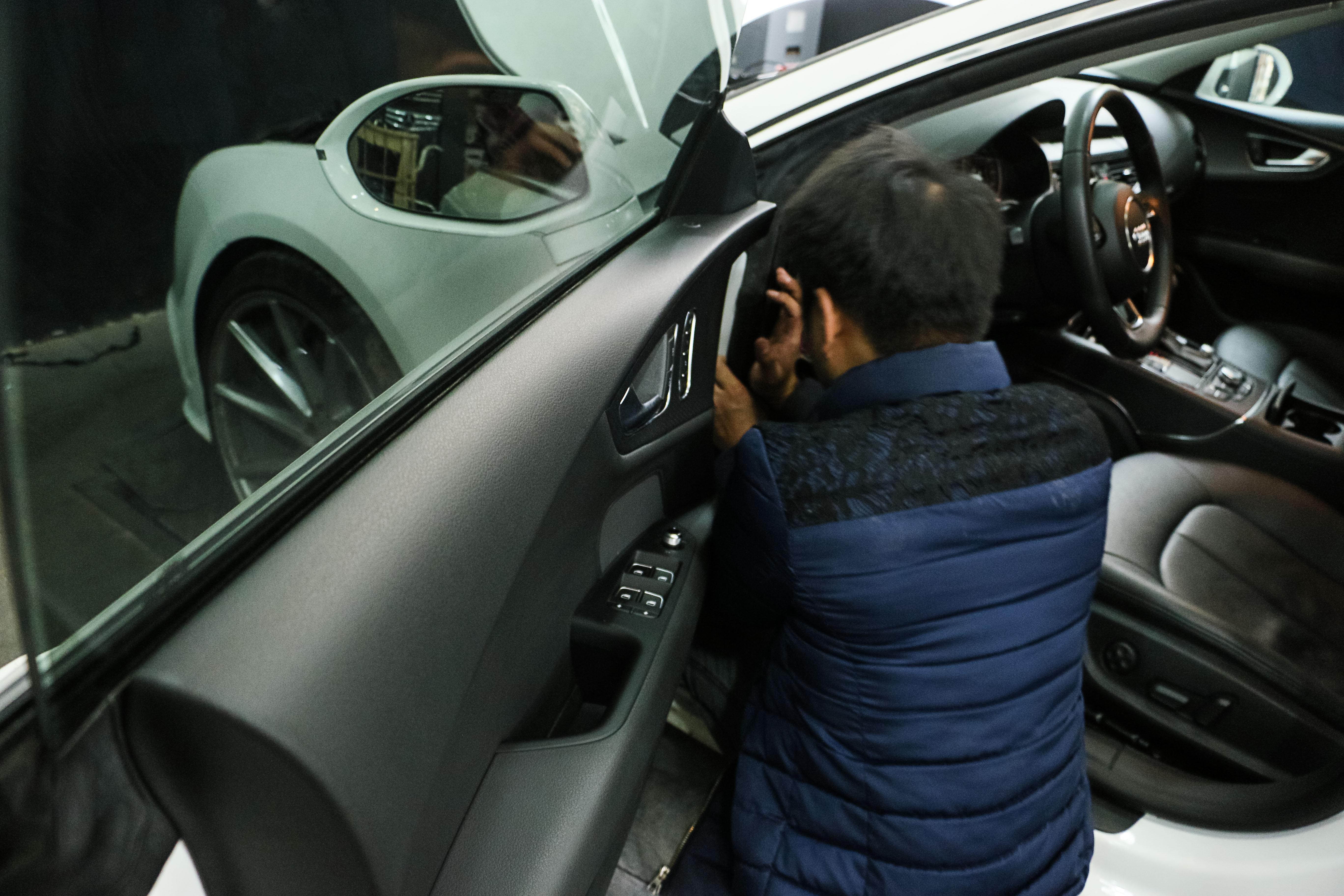 奥迪a7改可变阀门排气高清图片