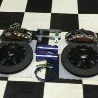 Toyota sienna 刹车改装Frando中六活塞镀镍套件