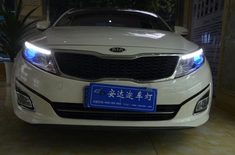 重庆新款起亚K5低配改装高配大灯总成
