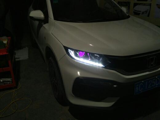 本田XRV灯光升级改装高清图片