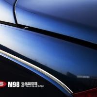 迈巴赫62S极光蓝玫瑰车身改色贴膜